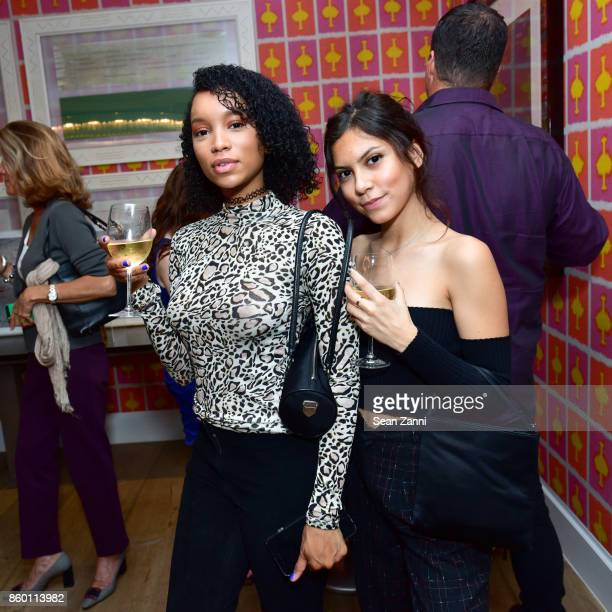 Cyrenae Tavemy and Guest attend the launch of The Collector Geneva's Sophie Bonvin Code Collection in Collaboration with artist Bill Claps at Crosby...