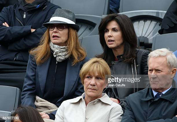 Cyrielle Clair and Caroline Barclay attend day 13 of the 2016 French Open held at RolandGarros stadium on June 3 2016 in Paris France