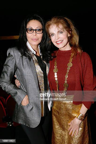 Cyrielle Clair and French Minister Yamina Benguigui attend 'Ninon Lenclos ou La Liberte' Theater Play on May 15 2013 in Paris France