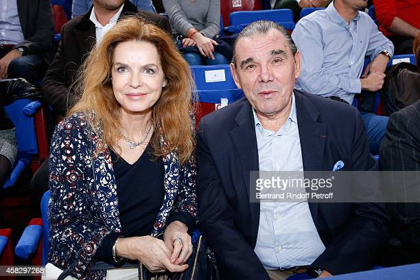 Cyrielle Clair and Michel Corbiere attend the Final match during day 7 of the BNP Paribas Masters Held at Palais Omnisports de Bercy on November 2...
