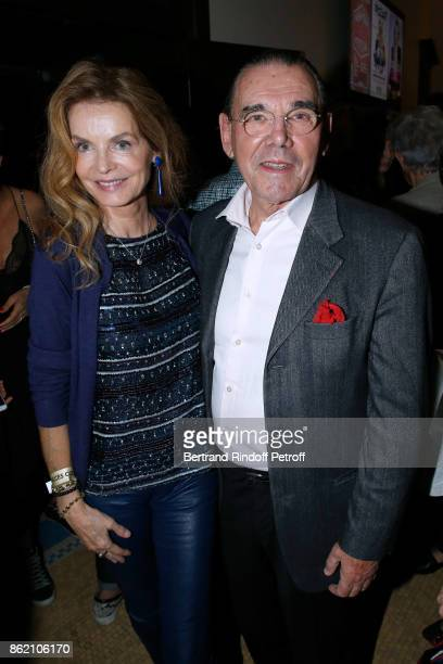 Cyrielle Clair and Michel Corbiere attend the One Woman Show by Christelle Chollet for the Inauguration of the Theatre de la Tour Eiffel Held at...