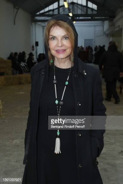 Cyrielle Clair attends the Franck Sorbier Haute Couture Spring/Summer 2020 show as part of Paris Fashion Week on January 22 2020 in Paris France