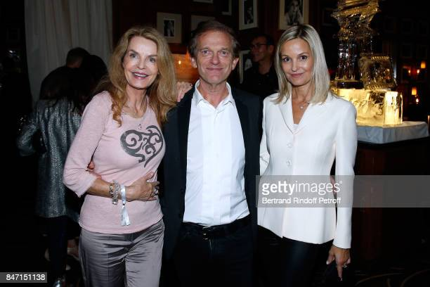Cyrielle Clair Doctor Frederic Saldmann and his wife Marie Saldmann attend the Reopening of the Hotel Barriere Le Fouquet's Paris decorated by...