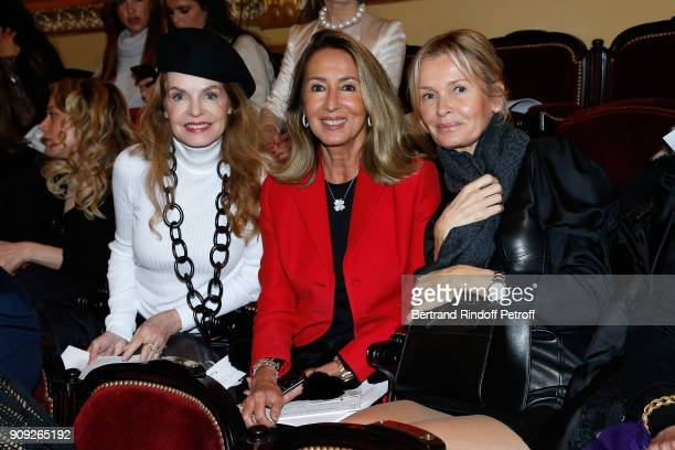 Cyrielle Clair Nicole Coullier and Kashia Varsano attend the Stephane Rolland Haute Couture Spring Summer 2018 show as part of Paris Fashion Week...