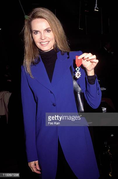 Cyrielle Claire and her 'Legion d'Honneur' Medal during Publicis Drugstore Opening at Publicis Store Champs Elysees in Paris France