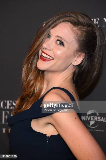 Cyrielle Joelle attends 'Fifty Shades Freed 50 Nuances Plus Claires' Premiere at Salle Pleyel on February 6 2018 in Paris France
