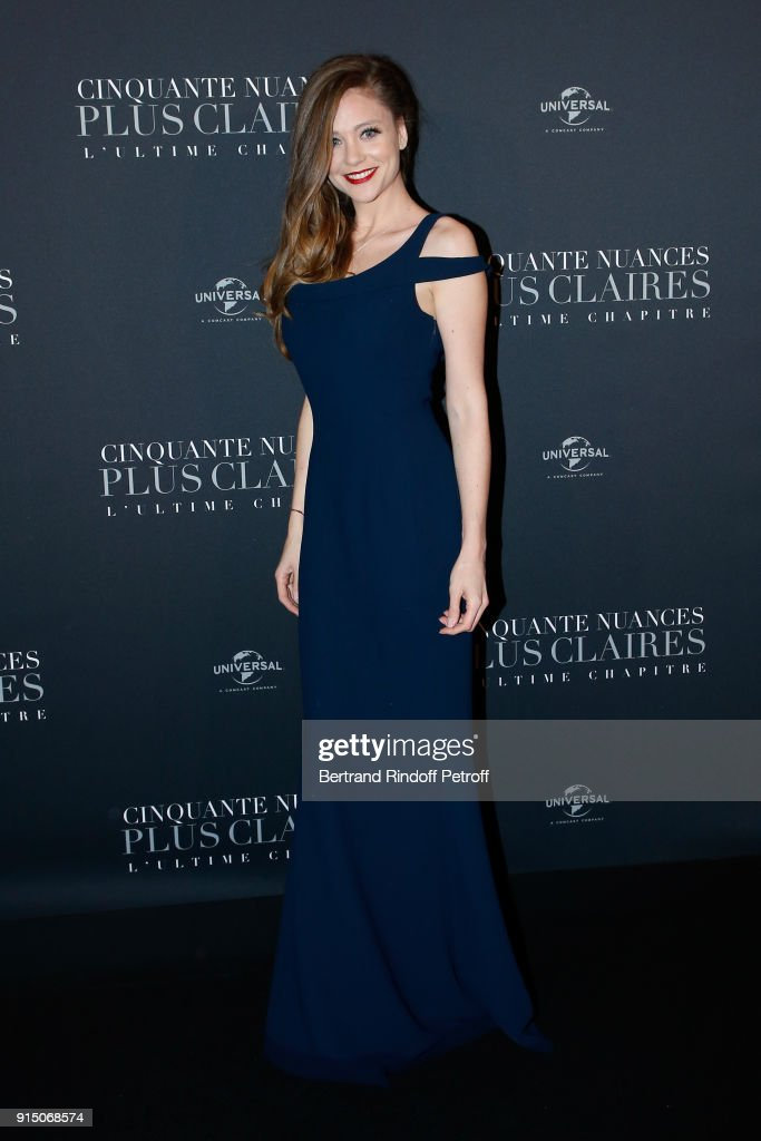 Cyrielle Joelle attends the 'Fifty Shades Freed - 50 Nuances Plus Clair' Paris Premiere at Salle Pleyel on February 6, 2018 in Paris, France.