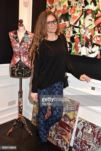 Cyrielle Joelle from Le Juste Prix attend the 'Accords Croises' Anne Mondy Exhibition Preview at Galerie Dedar on December 7 2015 in Paris France