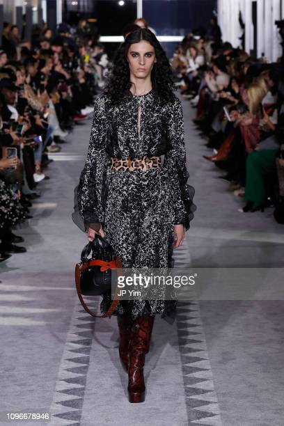 Cyrielle Lalande walks the runway, look 5, during the Longchamp FW19 Runway Show on February 9, 2019 in New York City.