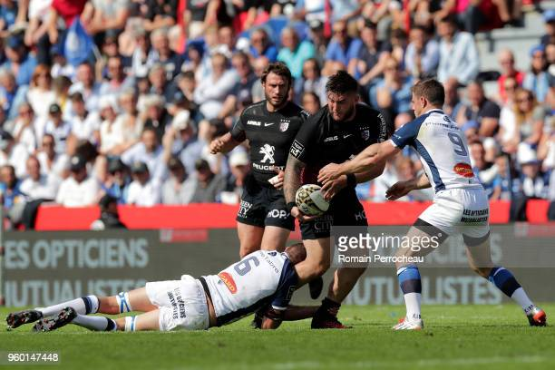 Cyril Baille of Toulouse in action during the French Top 14 match between Stade Toulousain and Castres at Stade Ernest Wallon on May 19 2018 in...
