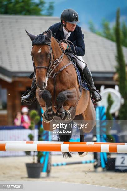 Cyril Bouvard OF FRANCE riding Broceliande du Lac during the Jumping Longines CransMontana at CranssurSierre on July 12 2019 in CransMontana...