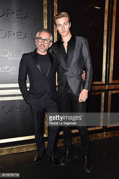 Cyril Chapuy and Lucky Blue Smith attend the Gold Obsession Party L'Oreal Paris Photocall as part of the Paris Fashion Week Womenswear Spring/Summer...