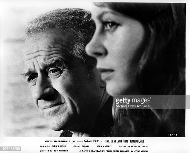 Cyril Cusack welcomes back Sarah Miles to the small fishing village in a scene from the movie Time Lost and Time Remembered circa 1966