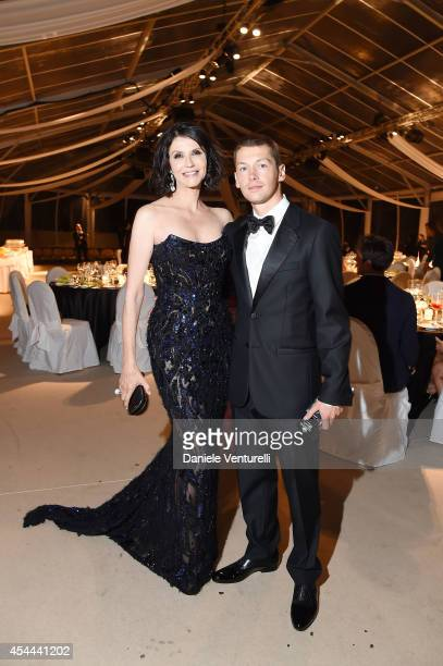 Cyril Descours and Alessandra Martines attend Kineo Award Dinner during the 71st Venice Film Festival at Hotel Excelsior on August 31 2014 in Venice...