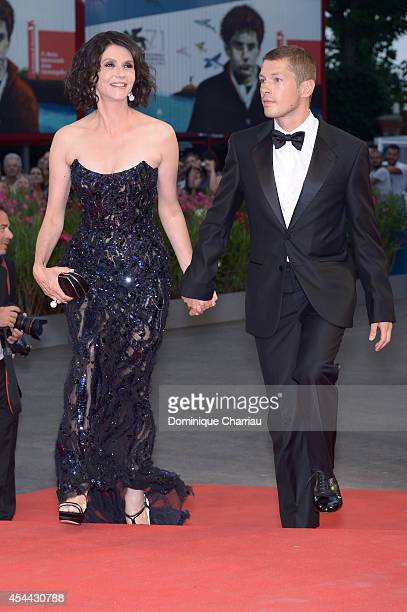 Cyril Descours and Alessandra Martines attend the 'Hungry Hearts' premiere during the 71st Venice Film Festival on August 31 2014 in Venice Italy