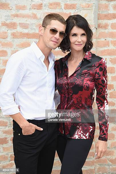 Cyril Descours and Alessandra Martines attend the Kineo Award Photocall during the 71st Venice Film Festival at Hotel Excelsior on August 31 2014 in...