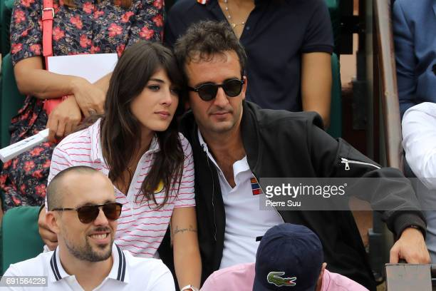 Cyril Eldin and Sandrine Calvayrac is spotted at Roland Garros on June 2 2017 in Paris France