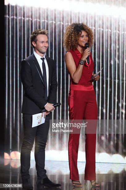 Cyril Feraud and Sophie Ducasse attend the 35th 'Les Victoires De La Musique' Show At La Seine Musicale on February 14 2020 in BoulogneBillancourt...