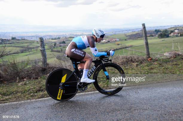 Cyril Gautier of Ag2r la Mondiale during the fourth stage of the 76th edition of ParisNice cycling race a 184 km individual time trial from La...