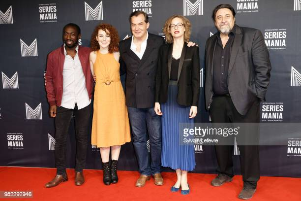 Cyril Gueï Blandine Bellavoir Samuel Labarthe Elodie Frenck Dominique Thomas attend Series Mania Lille Hauts de France Festival's opening ceremony on...