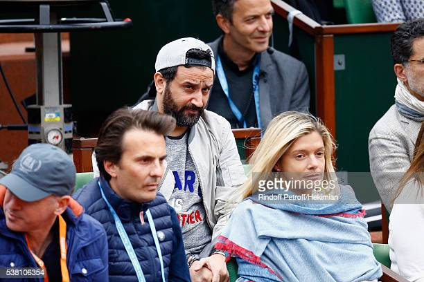 Cyril Hanouna and Yannick Bollore attend the French Tennis Open Day Fourteen at Roland Garros on June 4 2016 in Paris France