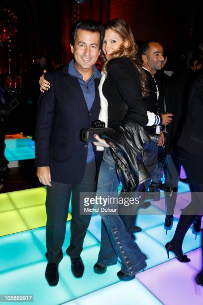 Cyril Karaoglan and Ulla Parker attend the Larry Gagosian Gallery Opening party on October 19 2010 in Paris France