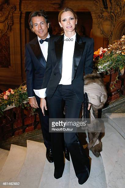Cyril Karaoglan and Ursula Parker attend Weizmann Institute celebrates its 40 Anniversary at Opera Garnier in Paris on January 12 2015 in Paris France