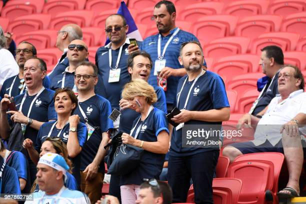 Cyril Linette and Stephane Guy during the FIFA World Cup Round of 16 match between France and Argentina at Kazan Arena on June 30 2018 in Kazan Russia