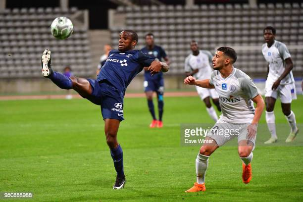 Cyril Mandouki of Paris FC and Said Benrahma of Chateauroux during the French Ligue 2 match between Paris FC and Chateauroux at Stade Charlety on...