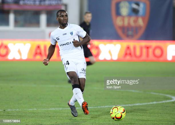 Cyril Mandouki of Paris FC during the Ligue 2 match between Gazelec Ajaccio and Paris FC at Stade Ange Casanova on July 27 2018 in Ajaccio France