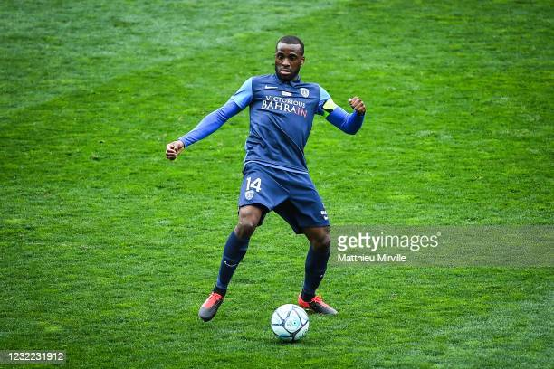 Cyril MANDOUKI of Paris FC during the Ligue 2 match between Paris FC and Troyes at Stade Charlety on April 10, 2021 in Paris, France.