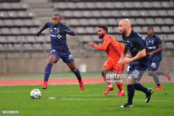 Cyril Mandouki of Paris FC during the Ligue 2 match between Paris FC and Bourg en Bresse at Stade Charlety on January 12 2018 in Paris France