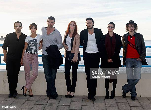 Cyril Mennegum Elodie Navarre Thierry Neuvic Audrey Fleurot Michaël Cohen Pauline Etienne Julien Courbey jury member during the 17th International...