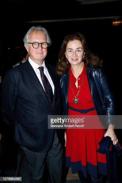 Cyril Niedzielski and Claudia Niedzielski attend 'Cendrillon' choregraphing by Rudolf Noureev during 'Reve d'Enfant' Charity Gala at Opera Bastille...