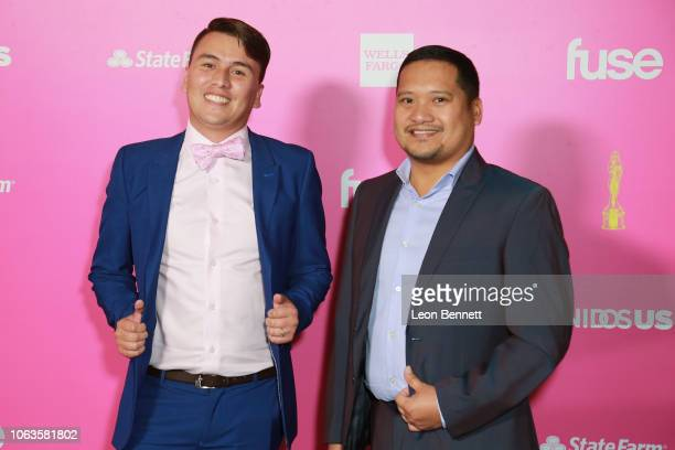 Cyril Perez and Carlos Montana attend The ALMAs 2018 Arrivals on November 04 2018 in Los Angeles California