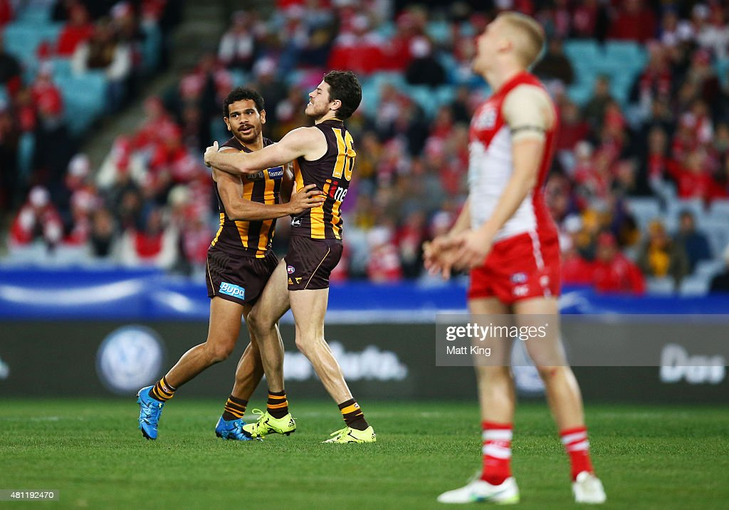 AFL Rd 16 -  Sydney v Hawthorn : News Photo