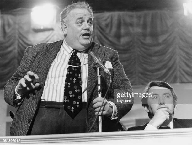 Cyril Smith the Liberal MP for Rochdale addresses the Liberal Party Conference in Margate 27th September 1979 On the right is party leader David Steel