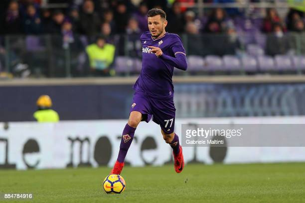 Cyril Thereau of ACF Fiorentina in action during the Serie A match between ACF Fiorentina and US Sassuolo at Stadio Artemio Franchi on December 3...