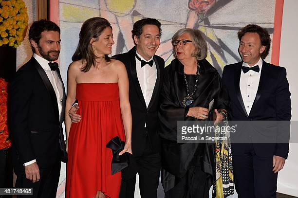 Cyril Vergniol Amandine Gallienne Guillaume Gallienne MarieClaude Beaud and Stephane Bern attend the Rose Ball 2014 in aid of the Princess Grace...