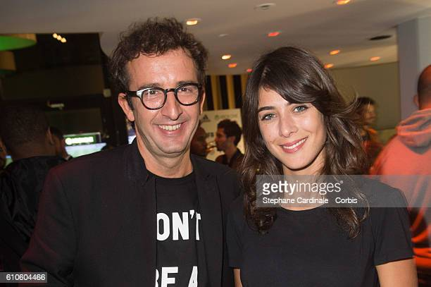 Cyrille Eldin and Sandrine Calvayrac attend the Fifa 17 Xperience Party at Le Cercle Cadet on September 26 2016 in Paris France