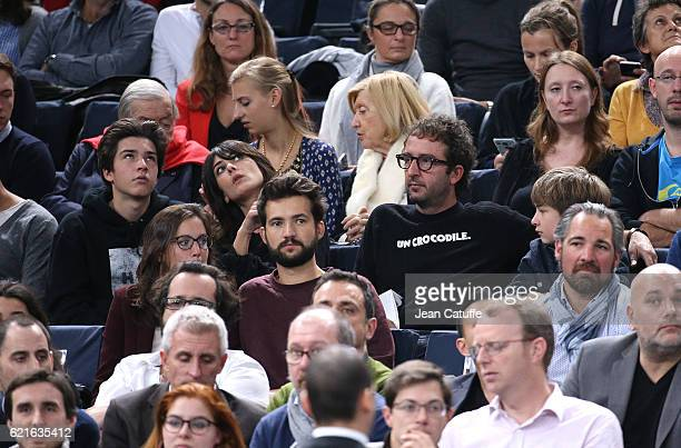 Cyrille Eldin and Sandrine Calvayrac attend the final of the Paris ATP Masters Series 1000 at AccorHotel Arena aka Palais Omnisports de Paris Bercy...