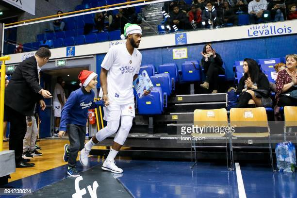 Cyrille Eliezer Vanerot of Levallois during the Pro A match between Levallois and Chalons Reims at Salle Marcel Cerdan on December 16 2017 in Paris...