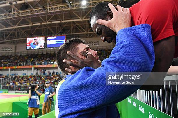 Cyrille Maret of France during bronze match on 100kg during Judo on Olympic Games 2016 in Rio at Carioca Arena 2 on August 11 2016 in Rio de Janeiro...