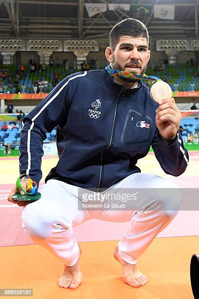 Cyrille Maret of France with the bronze medal on 100kg during Judo on Olympic Games 2016 in Rio at Carioca Arena 2 on August 11 2016 in Rio de...