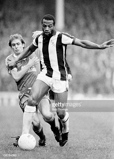Cyrille Regis in action for West Bromwich Albion during the First Division match between West Bomwich Albion and Middlesbrough at the Hawthorns in...