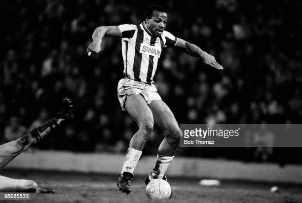 Cyrille Regis of West Bromwich Albion during the West Bromwich Albion v Aston Villa Division 1 match played at The Hawthorns West Bromwich on the...