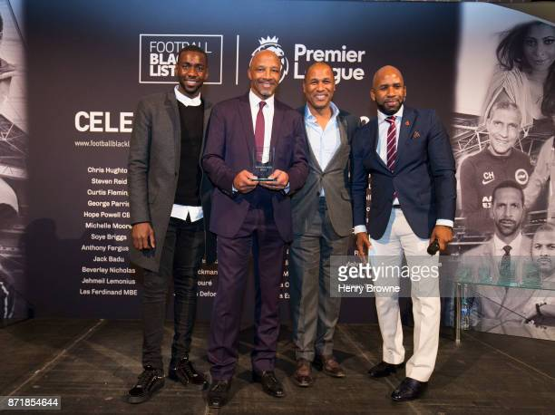 Cyrille Regis receives an award at The Black Football List Celebration on November 8 2017 in London England