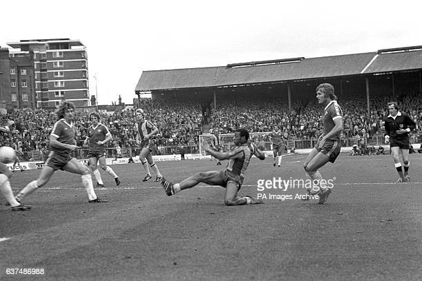 Cyrille Regis scores the equalising goal for West Bromwich Albion