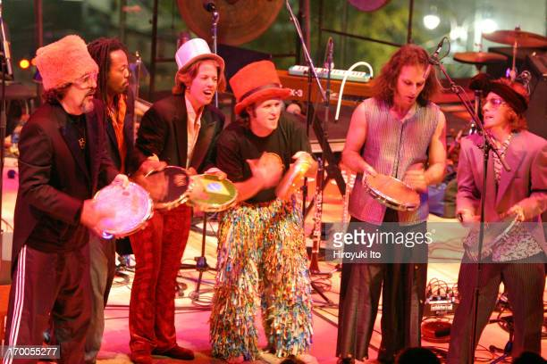 Cyro Baptista's Beat the Donkey performing at Allen Room on October 29 2004This imageCyro Baptista far left