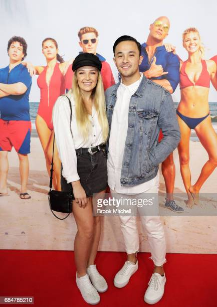 Cyrus and partner attend the Australian premiere of 'Baywatch' at Hoyts EQ on May 18 2017 in Sydney Australia